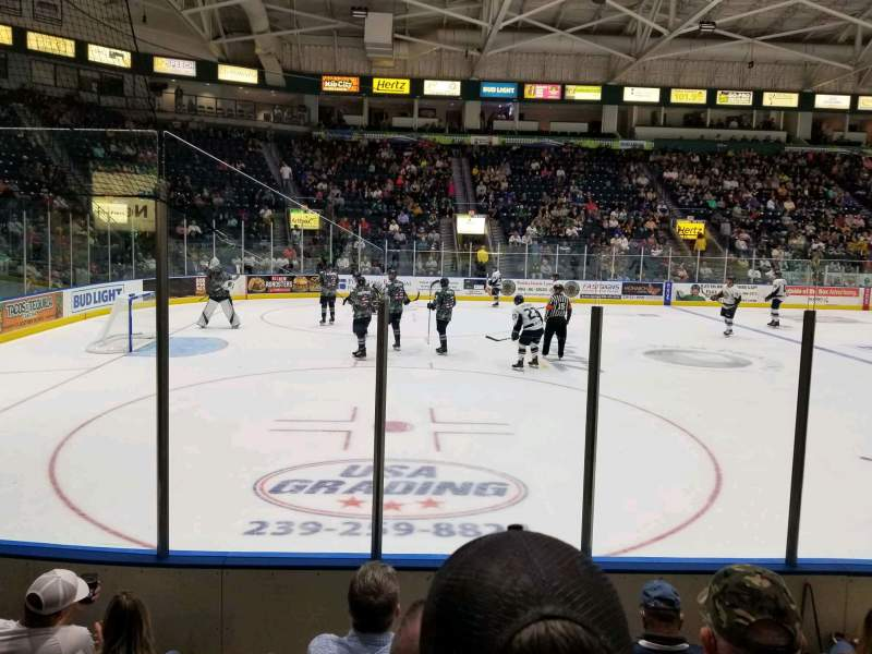 Vista sentada para Hertz Arena Secção 103 Fila 5 Lugar 12