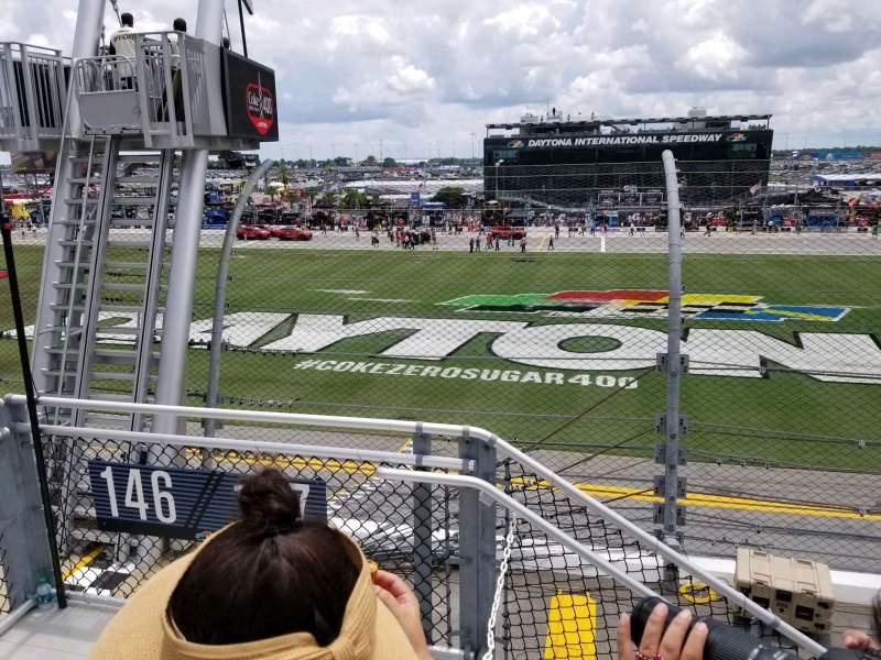 Vista sentada para Daytona International Speedway Secção 718 Fila 3 Lugar 22