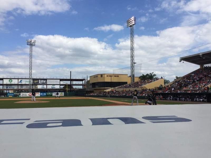 Vista sentada para Joker Marchant Stadium Secção 109 Fila FF Lugar 10