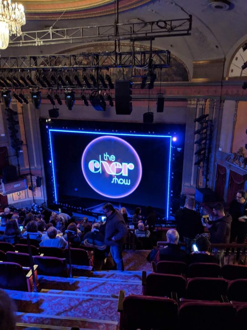 Vista sentada para Neil Simon Theatre Secção Mezzanine R Fila O Lugar 4