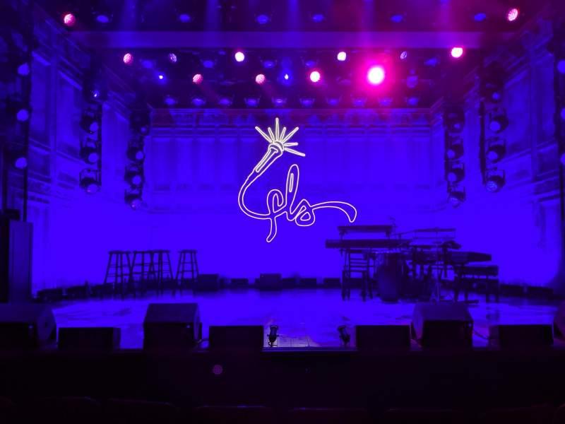 Vista sentada para Booth Theatre Secção Orchestra C Fila AA Lugar 107