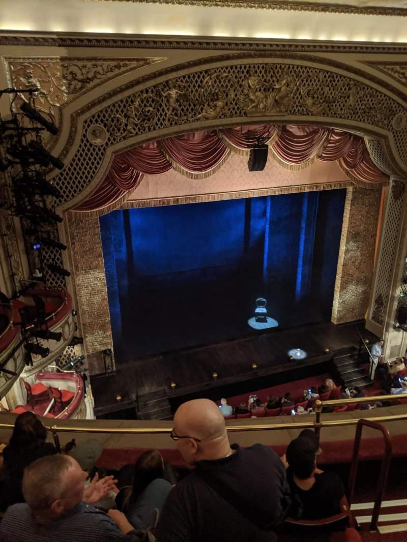 Vista sentada para Cort Theatre Secção Balcony L Fila D Lugar 7