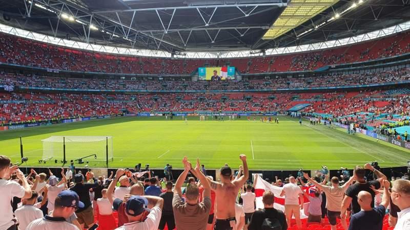 Vista sentada para Wembley Stadium Secção 110 Fila 22