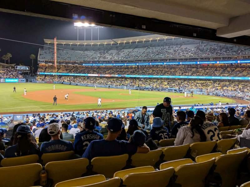 Vista sentada para Dodger Stadium Secção 31FD Fila W Lugar 7