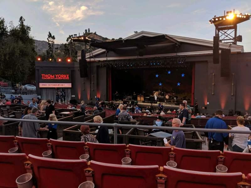 Vista sentada para The Greek Theatre Secção B Right Fila D Lugar 18