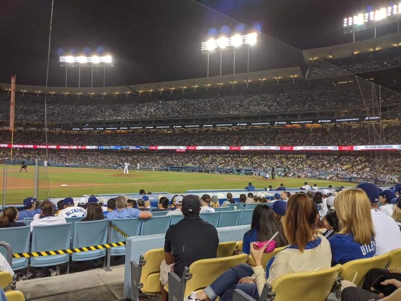 Vista sentada para Dodger Stadium Secção 27FD Fila E Lugar 1