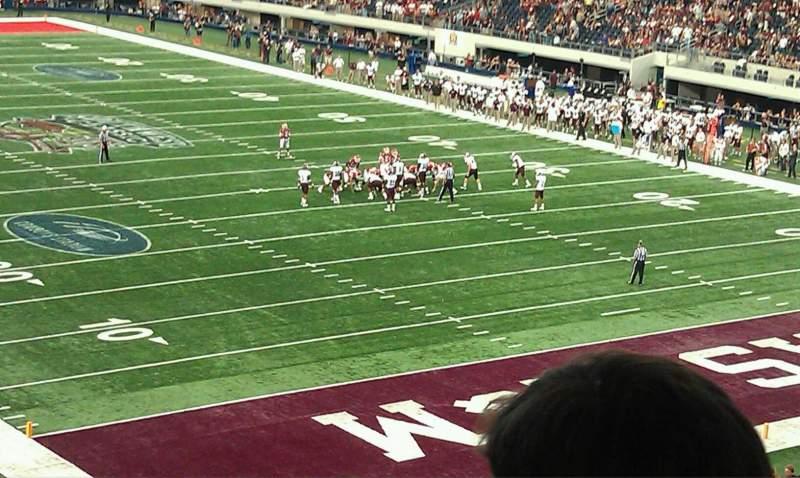 Vista sentada para AT&T Stadium Secção 227 Fila 15 Lugar 1