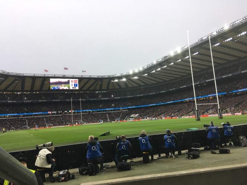 Vista sentada para Twickenham Stadium Secção L36 Fila 3 Lugar 246