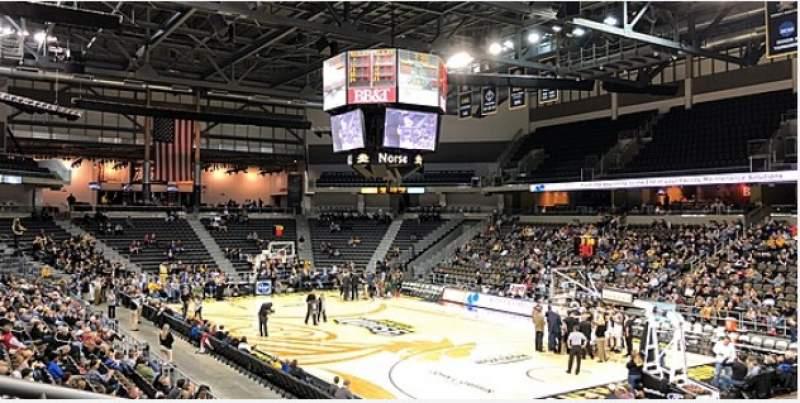 Vista sentada para BB&T Arena