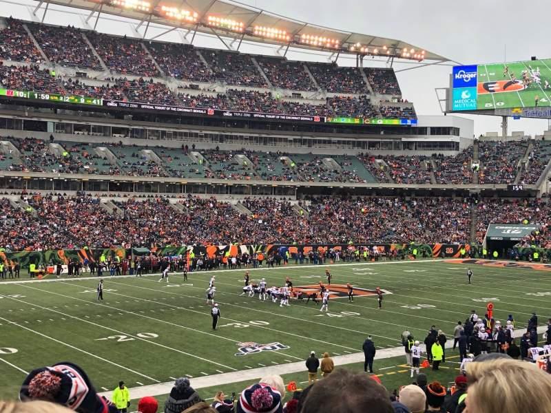 Vista sentada para Paul Brown Stadium Secção 146 Fila 26 Lugar 6