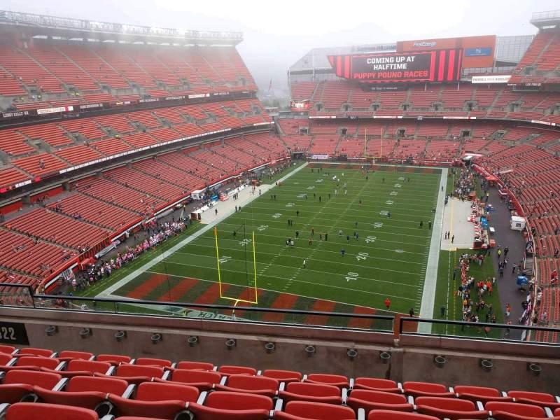 Vista sentada para FirstEnergy Stadium Secção 622 Fila 6 Lugar 12