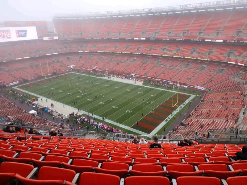 Vista sentada para FirstEnergy Stadium Secção 515 Fila 22 Lugar 11