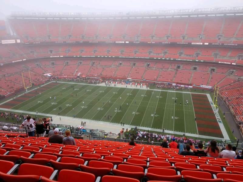Vista sentada para FirstEnergy Stadium Secção 511 Fila 22 Lugar 14