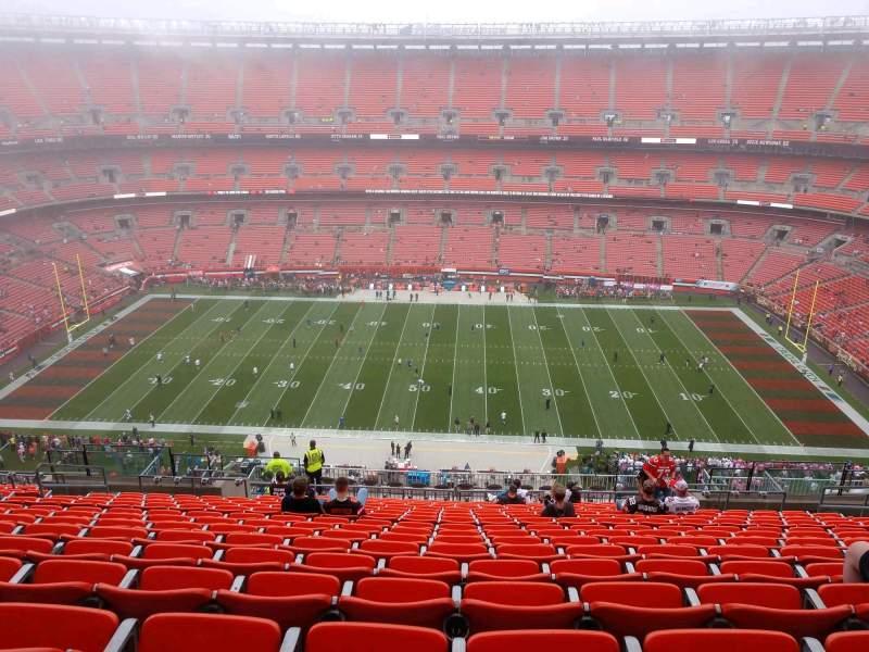 Vista sentada para FirstEnergy Stadium Secção 509 Fila 22 Lugar 14