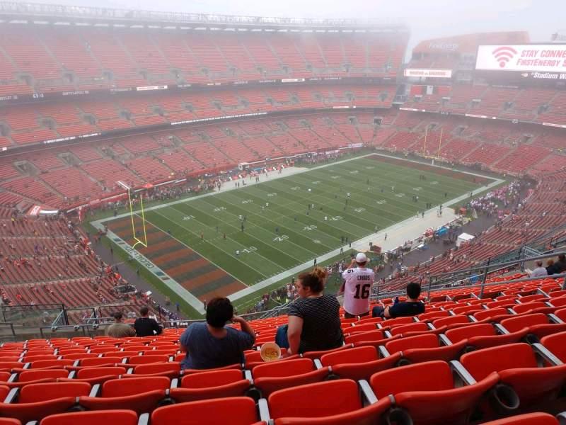 Vista sentada para FirstEnergy Stadium Secção 502 Fila 22 Lugar 12