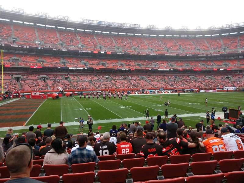 Vista sentada para FirstEnergy Stadium Secção 105 Fila 15 Lugar 13