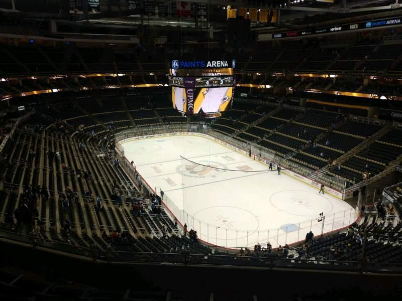 Vista sentada para PPG Paints Arena Secção 231 Fila E Lugar 4