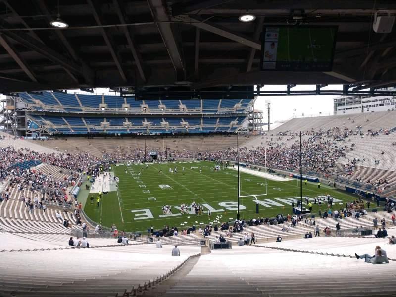 Vista sentada para Beaver Stadium Secção NH Fila 60 Lugar 5