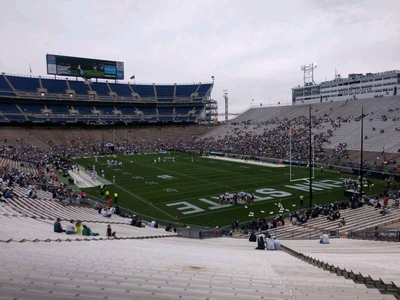 Vista sentada para Beaver Stadium Secção NJ Fila 49 Lugar 14