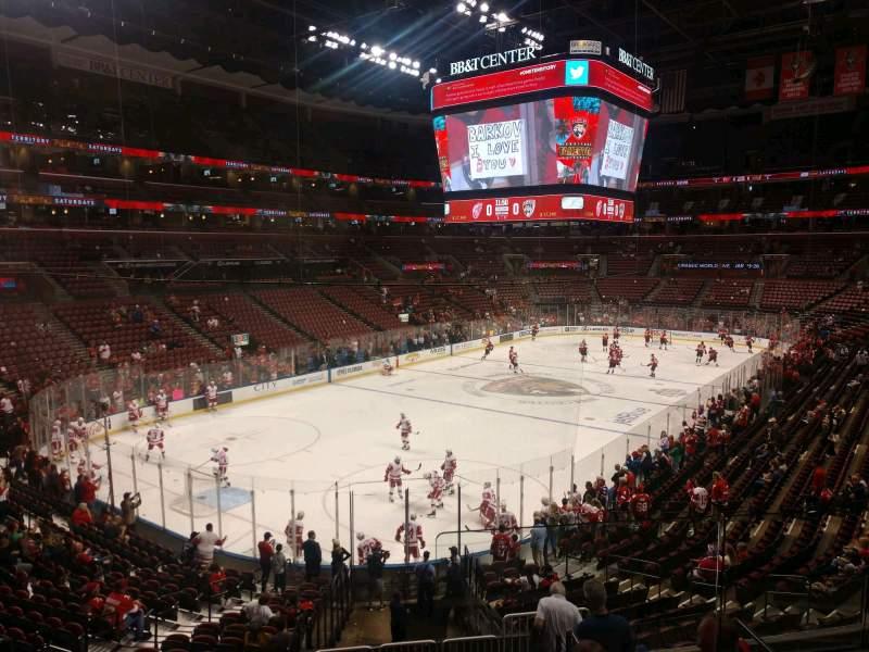 Vista sentada para FLA Live Arena Secção 124 Fila 21 Lugar 5