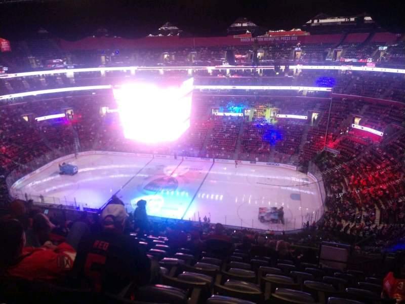 Vista sentada para FLA Live Arena Secção 332 Fila 15 Lugar 7