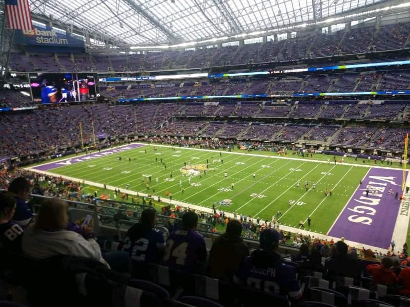 Vista sentada para U.S. Bank Stadium Secção 206 Fila 12 Lugar 10