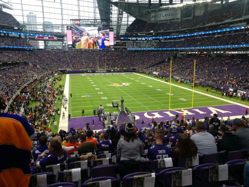 Vista sentada para U.S. Bank Stadium Secção 121 Fila 35 Lugar 22