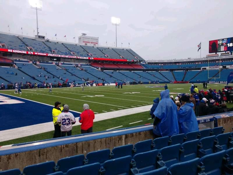 Vista sentada para Highmark Stadium Secção 116 Fila 6 Lugar 10