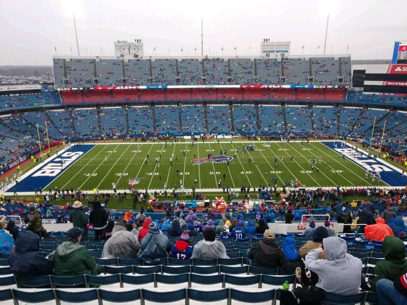 Vista sentada para Highmark Stadium Secção 334 Fila 29 Lugar 12