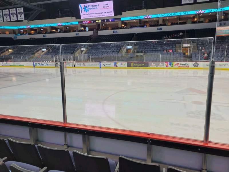 Vista sentada para Allen Event Center Secção 103 Fila D Lugar 3