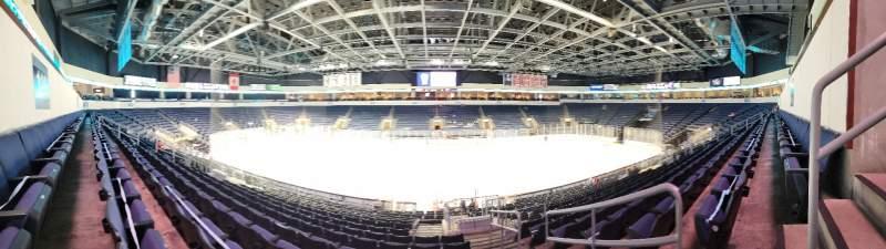 Vista sentada para Allen Event Center Secção 116 Fila S Lugar 2