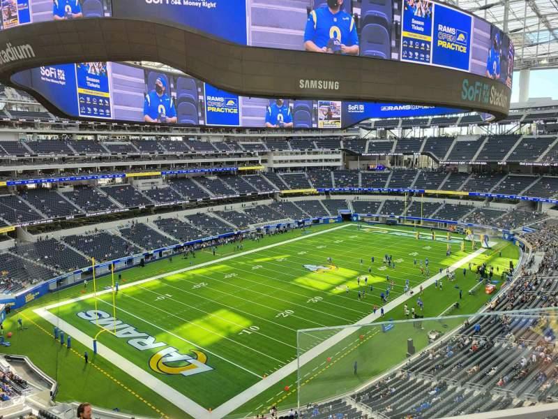 Vista sentada para SoFi Stadium Secção 341 Fila 2 Lugar 1