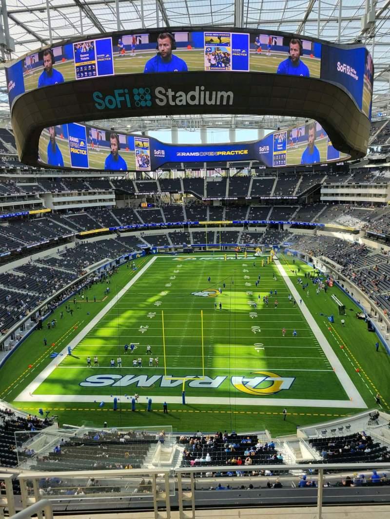 Vista sentada para SoFi Stadium Secção 337 Fila 6 Lugar 24