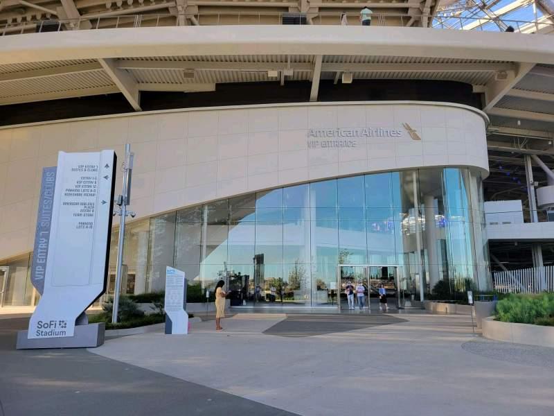 Vista sentada para SoFi Stadium Secção entry 7