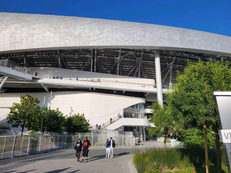 Vista sentada para SoFi Stadium Secção entry 6