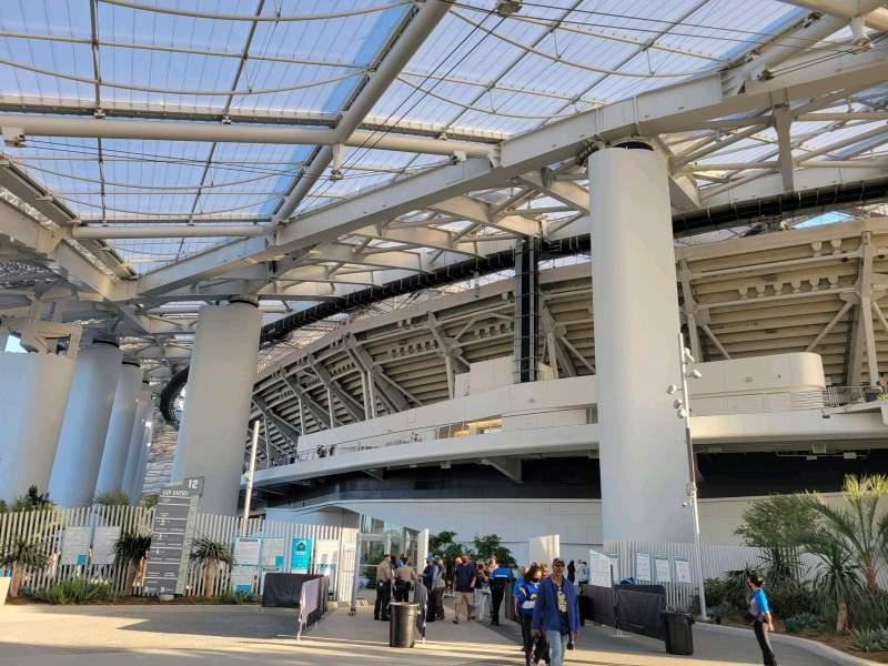 Vista sentada para SoFi Stadium Secção entry 12