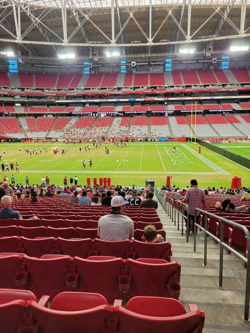 Vista sentada para State Farm Stadium Secção 130 Fila 34 Lugar 1