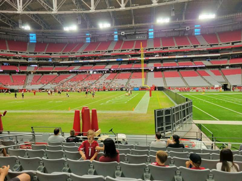 Vista sentada para State Farm Stadium Secção 128 Fila 8 Lugar 11