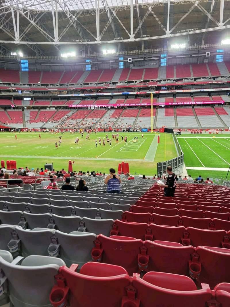 Vista sentada para State Farm Stadium Secção 128 Fila 29 Lugar 9