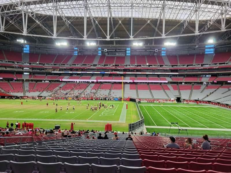 Vista sentada para State Farm Stadium Secção 128 Fila 37 Lugar 11