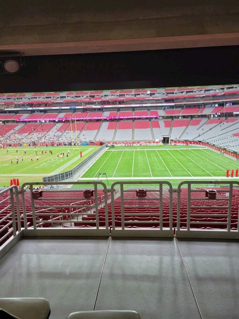 Vista sentada para State Farm Stadium Secção 126 Fila 41 Lugar 10