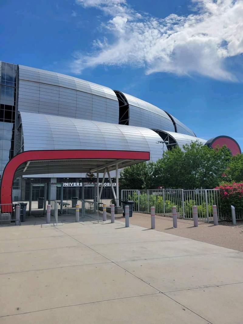 Vista sentada para State Farm Stadium Secção Gate 2