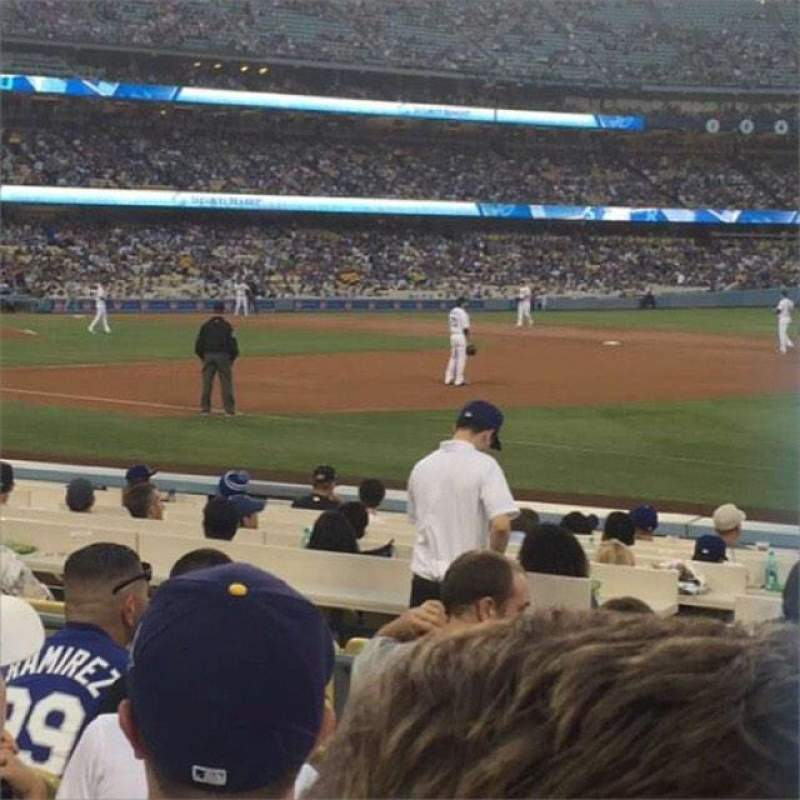 Vista sentada para Dodger Stadium Secção 34FD Fila F Lugar 5