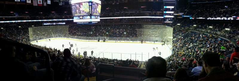 Vista sentada para Nationwide Arena Secção C1 Fila F Lugar 1