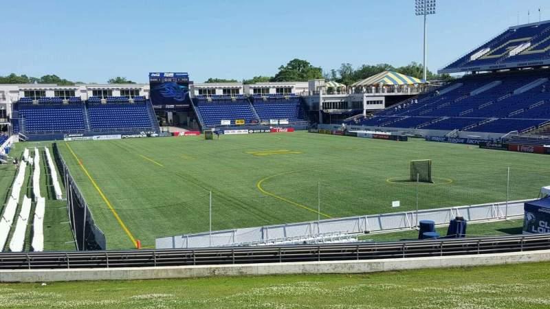 Vista sentada para Navy-Marine Corps Memorial Stadium Secção D Fila 5 Lugar 12