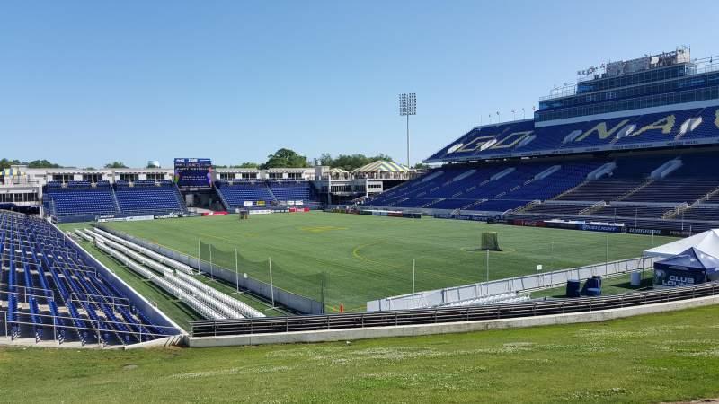 Vista sentada para Navy-Marine Corps Memorial Stadium Secção D Fila 5 Lugar 35