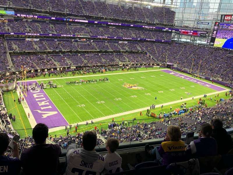 Vista sentada para U.S. Bank Stadium Secção 317 Fila D Lugar 11