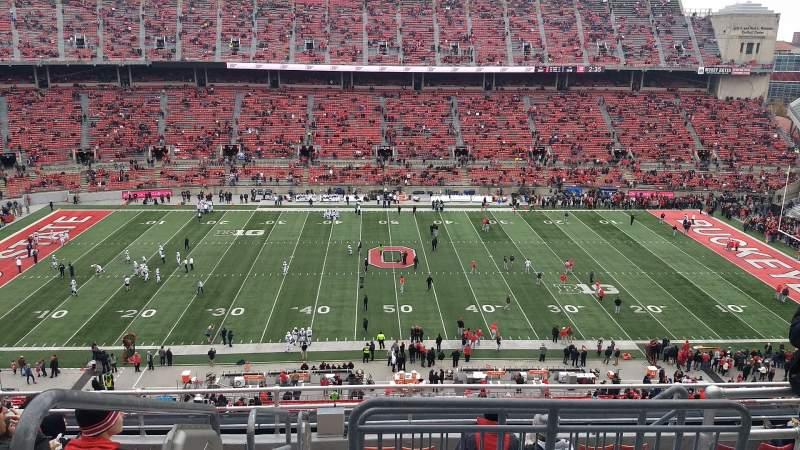 Vista sentada para Ohio Stadium Secção 21C Fila 10 Lugar 1