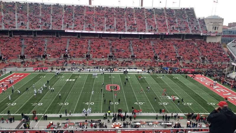 Vista sentada para Ohio Stadium Secção 21C Fila 11 Lugar 1
