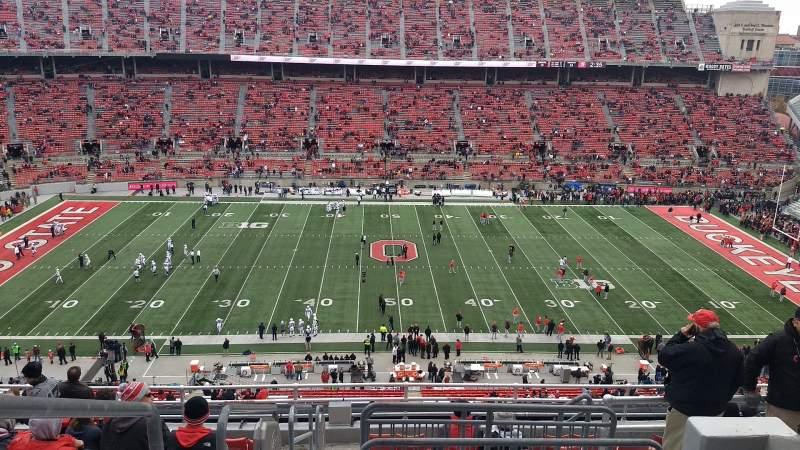 Vista sentada para Ohio Stadium Secção 21C Fila 12 Lugar 1